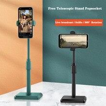 Support rétractable multifonction pour téléphone portable, accessoire de bureau pour iPhone, Xiaomi, Samsung, diffusion en direct