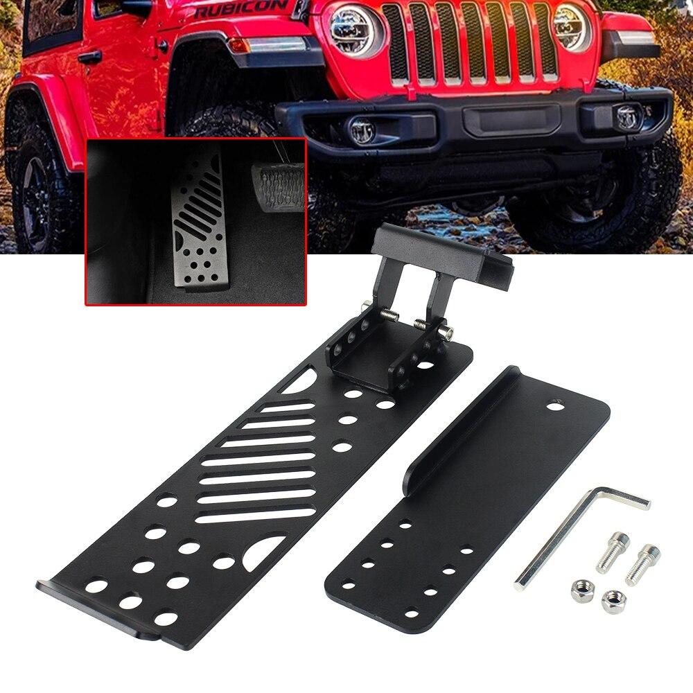 u-Box for Jeep Wrangler JL 2018-2021 Metal Dead Pedal Left Side Foot Rest Kick Panel