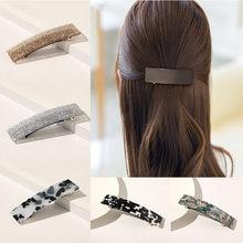 Pinces à cheveux faites à la main pour femmes, nouvelle mode, épingles à cheveux à fleurs géométriques pour filles, accessoires pour cheveux