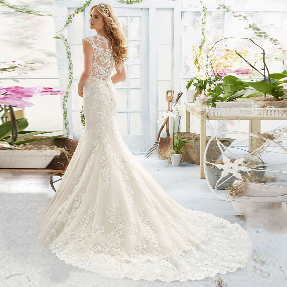 2019 New Vestidos De Novia Boob Tube Top Free Shipping Bridal Gowns V-neck Lace Appliques Beads Custom Mother Of The Bride Dress
