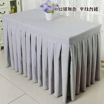 Hot selling 100% polyester 240*60*75cm 2pcs  table skirt used for wedding party event free shipping