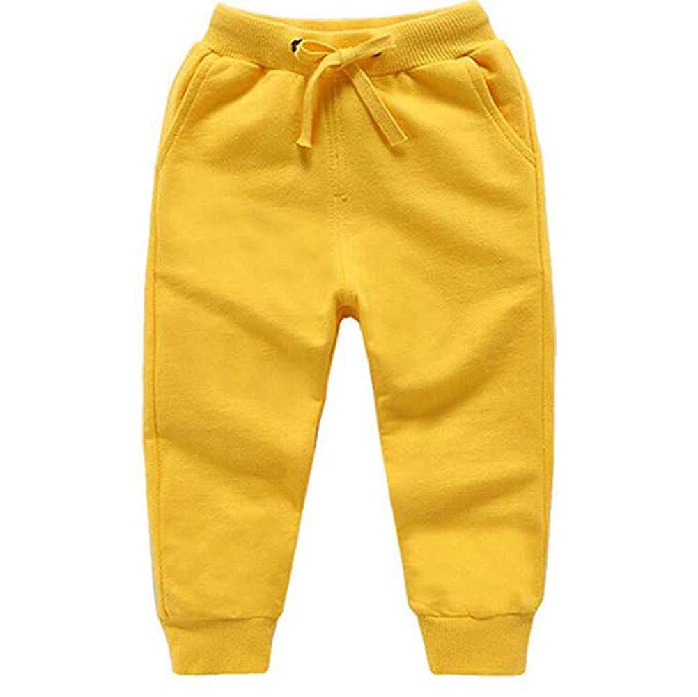 5 Pieces Unisex Kids Solid Pants Toddler Baby Bottoms Active Sweatpants Harem Pants  Cargo Pants