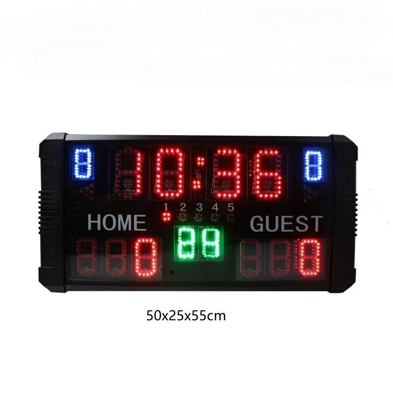 Ganxin New Design Wireless, Gymnastics Scoreboard  Remote Control Digits Portable Led Scoreboard Electronic Digital Basketball