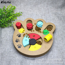 Interactive Toys for Dogs and Cats Food Treated Wooden Dog Toy Eco-friendly Puppy Pet Educational Bone Paw Puzzle