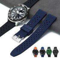 Bandas de reloj de liberación rápida para hombre y mujer, banda de reloj de goma de primera calidad, panal FKM, 18mm, 20mm, 22mm