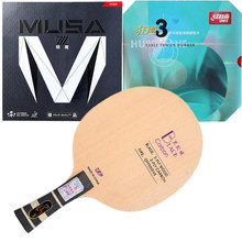 Table-Tennis-Blade Finished-Racket Xiom Musa Carbon Rubbers-Quality Hurricane3 Black