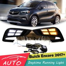 DRL Für Buick Encore Opel Mokka 2017 2018 LED Auto Tagfahrlicht Driving Nebel Lampe Tageslicht Mit Blinker