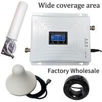 2G 3G 4G трехдиапазонный усилитель сигнала сотового телефона GSM 900 LTE 1800 WCDMA 2100 mhz мобильный сотовый ретранслятор сигнала антенна комплект крышк...