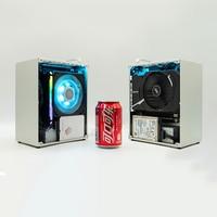 K39 Fall HTPC PC ITX MINI Sicher Schrank Alle-Aluminium Computer Rahmen Für 2070 1660 i5 i7 8700 Mit flex NETZTEIL 500-550W Netzteil