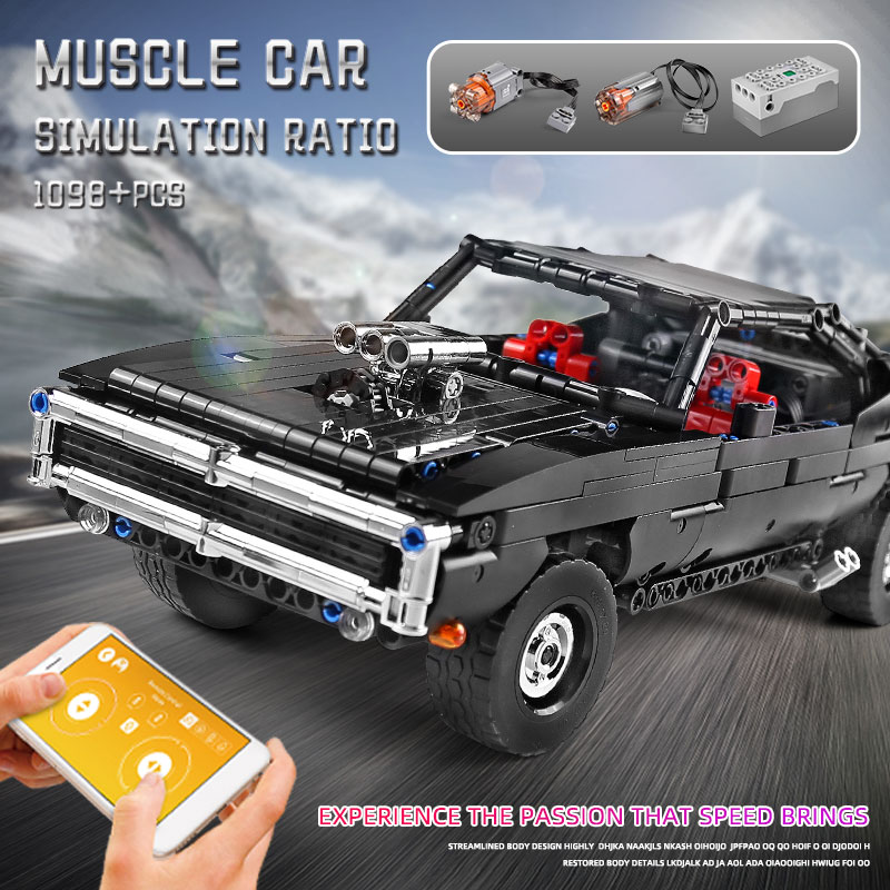 MOULD KING 13081 App Motorized High-Tech Car The MOC-17750 RC Ultimate Muscle Car Model Building Blocks