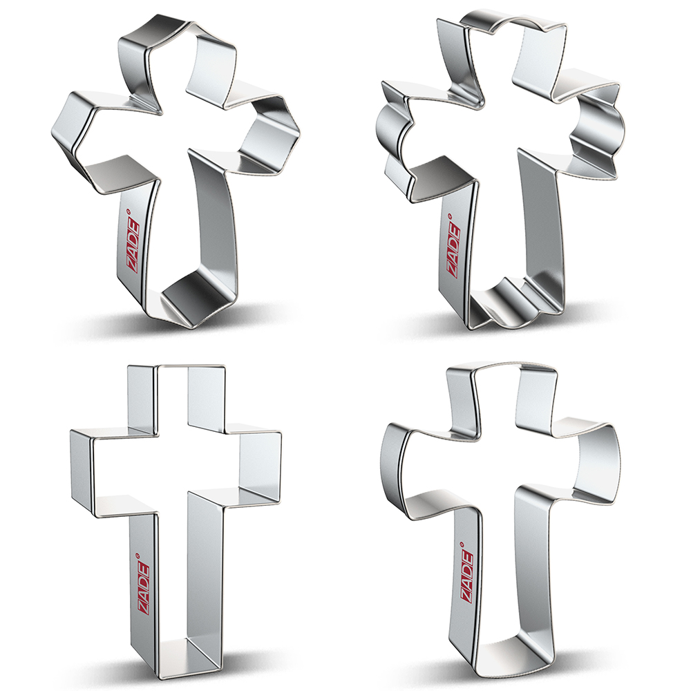ZADE Easter Crucifix Cookie Cutter Biscuit And Fondant Cutter - Stainless Steel