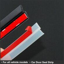 4 metros z tipo tira de vedação da porta do carro isolamento acústico transparente tira de vedação preta alta qualidade auto vedação fita porta selo