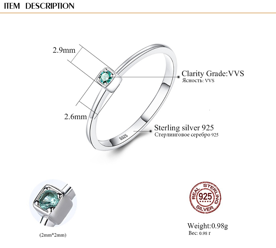 CZCITY Genuine 925 Sterling Silver VVS Green Topaz Wedding Rings for Women Minimalist Thin Circle Gem Rings Jewelry Carving S925 H8ef0d3ed530c45828ec978235a92772c2 ring