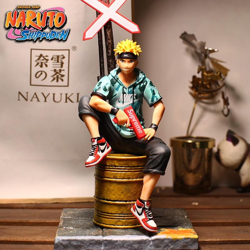 Free shipping Anime NARUTO Uzumaki Naruto Fashion Suit Sitting Ver. PVC Action Figure Collection Model Doll Toys B19