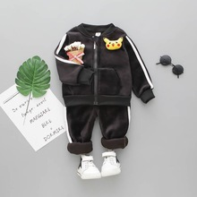 Children Clothing Set Baby's Sets Kids Hoodies Pikachu Solid Color Boy Outfit Sports Suit Boys Girls Suits Casual Tracksuit 0-6Y
