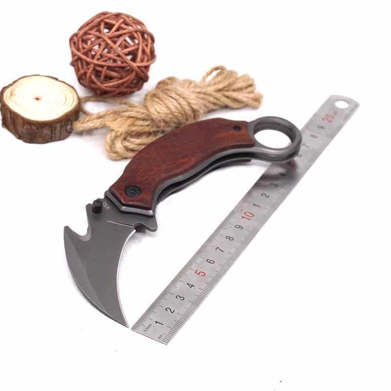 سكين Karambit قابل للطي 6.69 بوصة سكاكين cs التكتيكية المخلب والصيد والتخييم في الخارج سكين جيب EDC أداة متعددة للدفاع