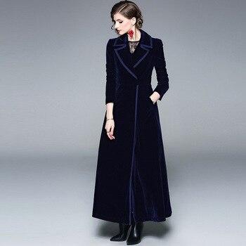 Windbreaker Tide Suit Lead Long Sleeve Secretly Buckle Back Velvet Lengthen Fund Loose Coat abaya фото