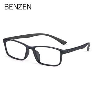 Image 3 - BENZEN באיכות משקפיים מסגרת גברים נשים Ultralight משקפיים אופטיים מסגרת כיכר מרשם משקפיים 5196