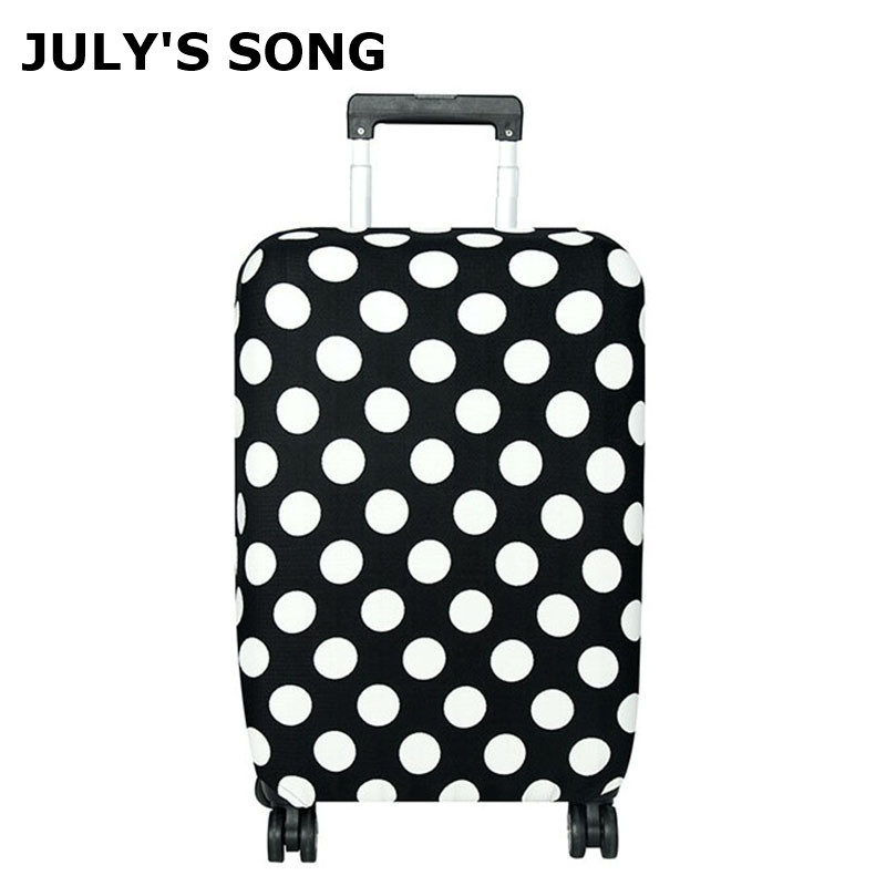 JULY'S SONG Travel Luggage Protective Covers Suitcase Cover Elastic Dustproof Cover For 18-30 Inch Suitcase Travel Accessories