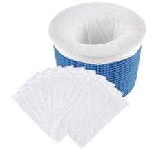 FILTER-STORAGE Skimmer-Socks SWIMMING-POOL-FILTER Baskets Pool-Supply Nylon for White