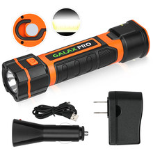 GALAX PRO Rechargeable 2 in 1 Telescopic Torch, Super Bright 280 Lumen, USB Cord & 2 Charger, Magnetic Base and Hook