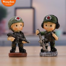 Resin Military Army Special Forces Party Theme Cake Topper Boy Party Favors Children's Birthday Cake Supplies Party Decorations(China)