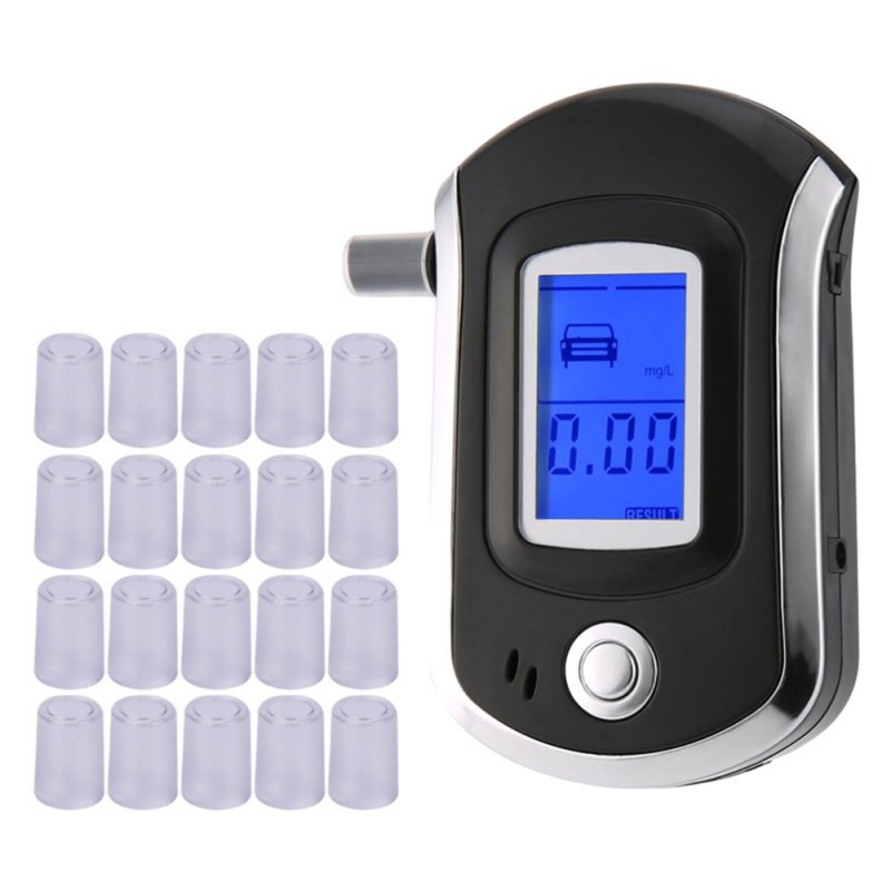 50pcs/bag Mouthpieces For Breath Alcohol Breathalyzer Tester Digital LCD Analyzer