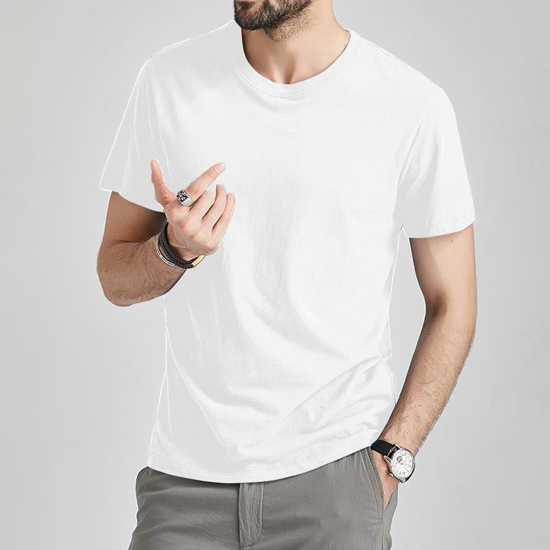 Free Ship T Shirts Male Tshirts Men Summer Short Tee Shirt Women Plain Solid Cotton White Tees Top Female Tee Lady Brand MuLS