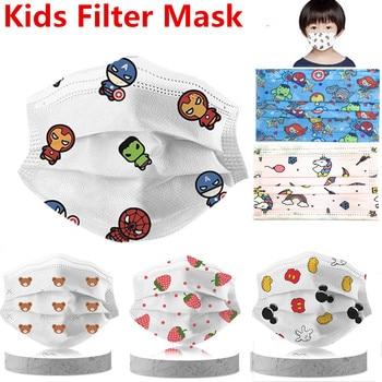 50/10Pcs Disney Marvel Children Cartoon Mouth Mask 3 Layer Anti Dust Maske Fashion Disposable Face Masks Kids 1