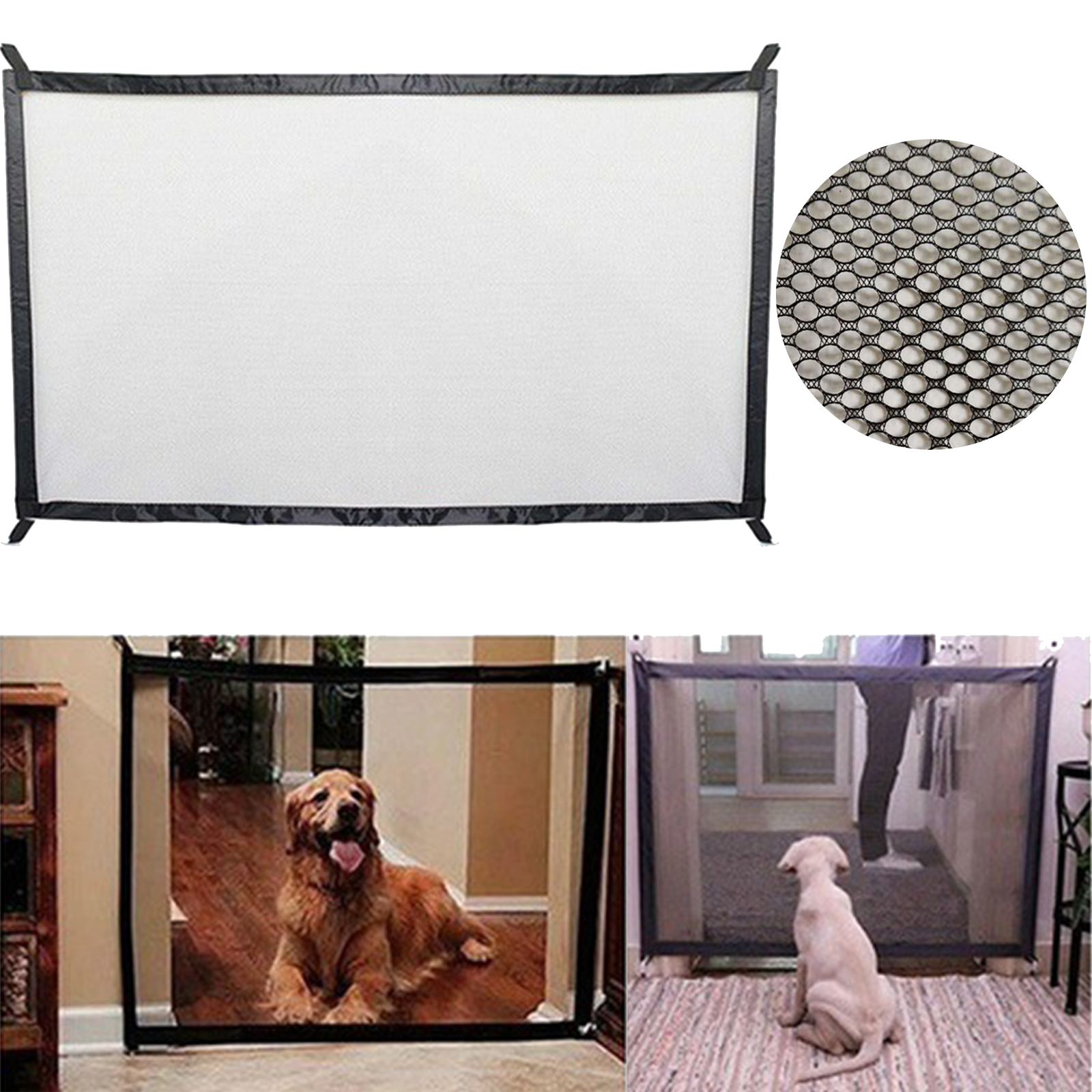 Pet Barrier Dog Gate Breathable Mesh Dog Fence For Indoor and Outdoor Safe Pet Dog Gate Safety Baby Pet Supplies Dropshipping