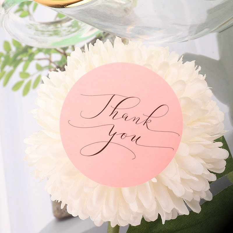 120pcs Thank You Stickers Pink Stickers for Company Giveaway Birthday Party Favors Labels Mailing Supplies Festival 3