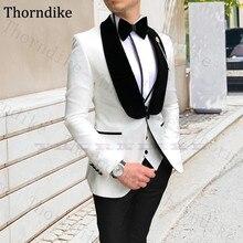 Thorndike Custom Made Men's Suits 3 Pcs Slim Fit Prom Tuxedo