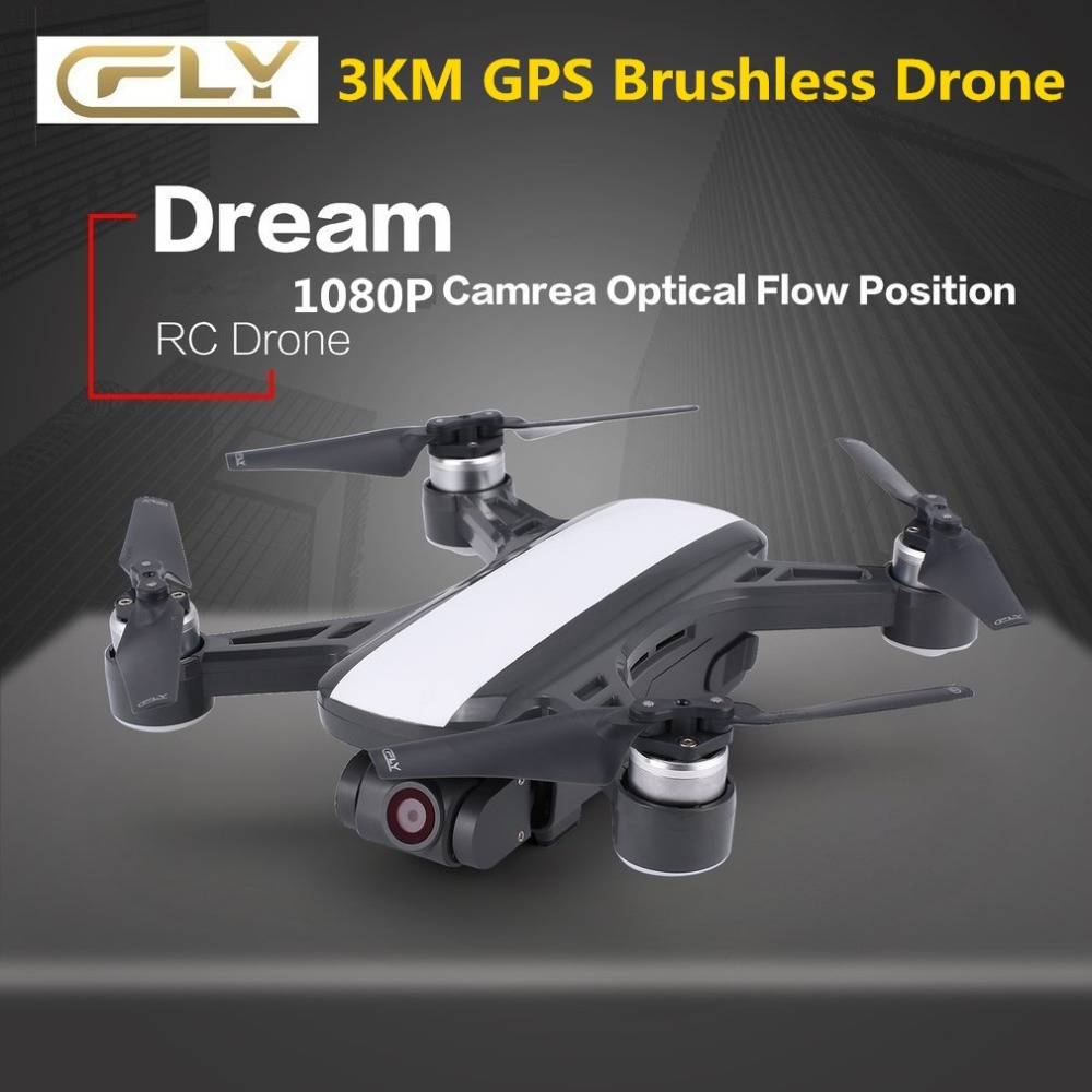 C-fly Cfly Dream <font><b>GPS</b></font> RC <font><b>Drone</b></font> Brushless WIFI <font><b>FPV</b></font> Quacopter with 5G 4K HD Camera Follow Me Mode Circle Flying Optical Flow image