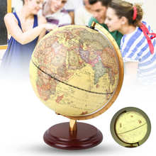 Teaching-Tool Globe Educational-Toy Retro 3D 25CM Desktop-Decor School-Supplies Antique