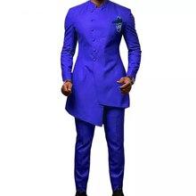 Длинные приталенные мужские костюмы для свадьбы, смокинги для жениха, 2 предмета(пиджак+ брюки), костюмы для жениха, дизайнерский блейзер для выпускного бала