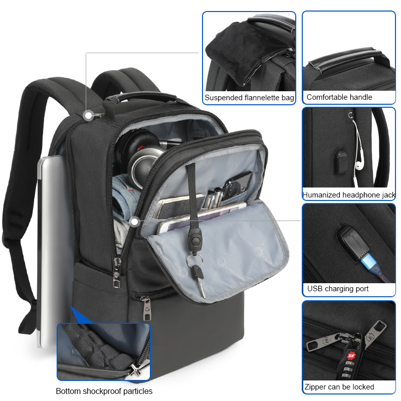 Tigernu Expandable Backpack Men for 15.6-19 Inch Laptop/Computer Backpacks Male Travel Backpack Bags Large Capacity Male Fashion
