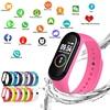 M4 חכם Watchs ספורט Wristbands לנשים LED מסך כושר Traker Bluetooth עמיד למים גברת Watchs ספורט מותג דיגיטלי שעון