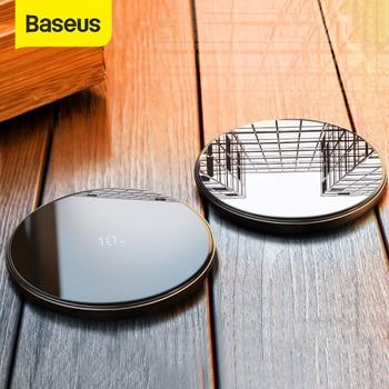 Baseus специальный дизайн 10 Вт Qi Беспроводное зарядное устройство для P30 P30 Pro быстрая Беспроводная зарядка Pad для Mate 20 Pro Samsung S10 S9 S8