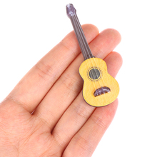 Cute 1PC Guitar Accessories Dollhouse Miniature Instrument Part for Home Decor Kid Wood Furniture Craft Ornament 1/12 Scale