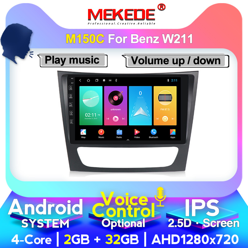 MEKEDE car Radio New Android For <font><b>Mercedes</b></font> Benz E-class <font><b>W211</b></font> E200 E220 E300 E350 E240 E270 <font><b>GPS</b></font> Car Multimedia Player DVR FM DSP image