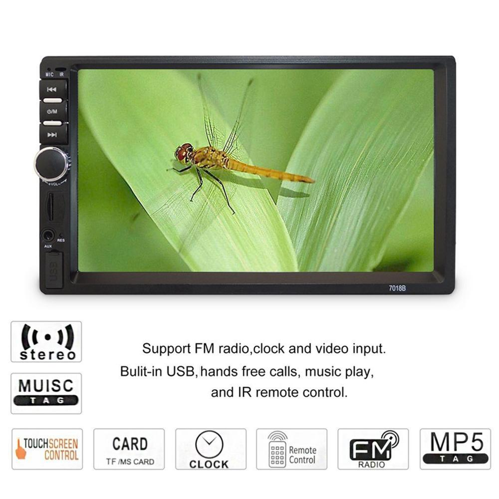 7 Inch Double <font><b>7018B</b></font> 2 DIN Car FM Stereo Radio MP5 Player TouchScreen Multimedia player MP5 Player USB FM image