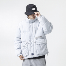 YUECHEN Autumn And Winter Mens New Loose Casual Pocket Stand Collar Zipper Thick Cotton Coat Multicolor Clothes M-2XL
