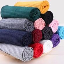Dense Cotton Stretch Knit Heavy Sweater Jacket Waistband Hem Cuffs Legs Ribbed Trim Rib Fabric 100cm x 15cm