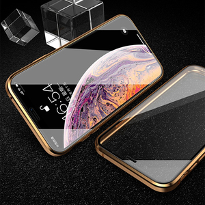 Image 5 - כפול צדדי זכוכית מגנט מקרה עבור iphone 7 8 בתוספת XS Max Xr X מתכת מגנטי 360 תואר מלא כיסוי מקרה עבור iphone 6 Coque