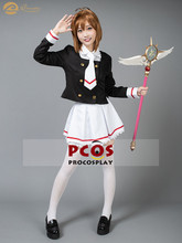 ProCosplay In voorraad Cardcaptor Sakura Clear Card Sakura Kinomoto Uniform Cosplay Kostuum voor vrouwen mp003941(China)
