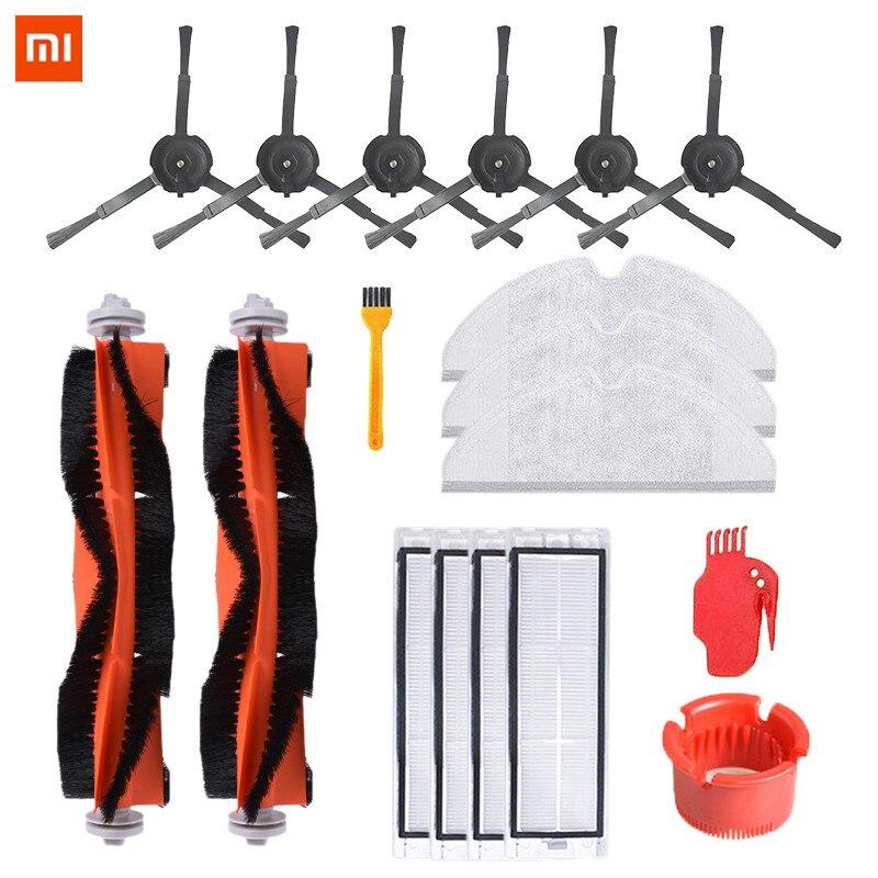 18PCS MI Roborock Accessories Main Brush Side Brush Filter Mop Cloth Comb Blade For Mi Robot Vacuum Cleaner