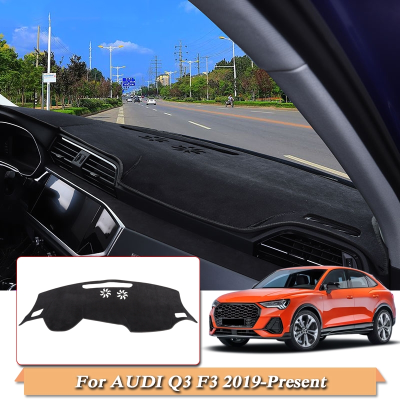 Car Styling Dashboard Protective Mat Shade Cushion Pad Carpet For Audi Q3 F3 2019-Present LHD Internal Accessories