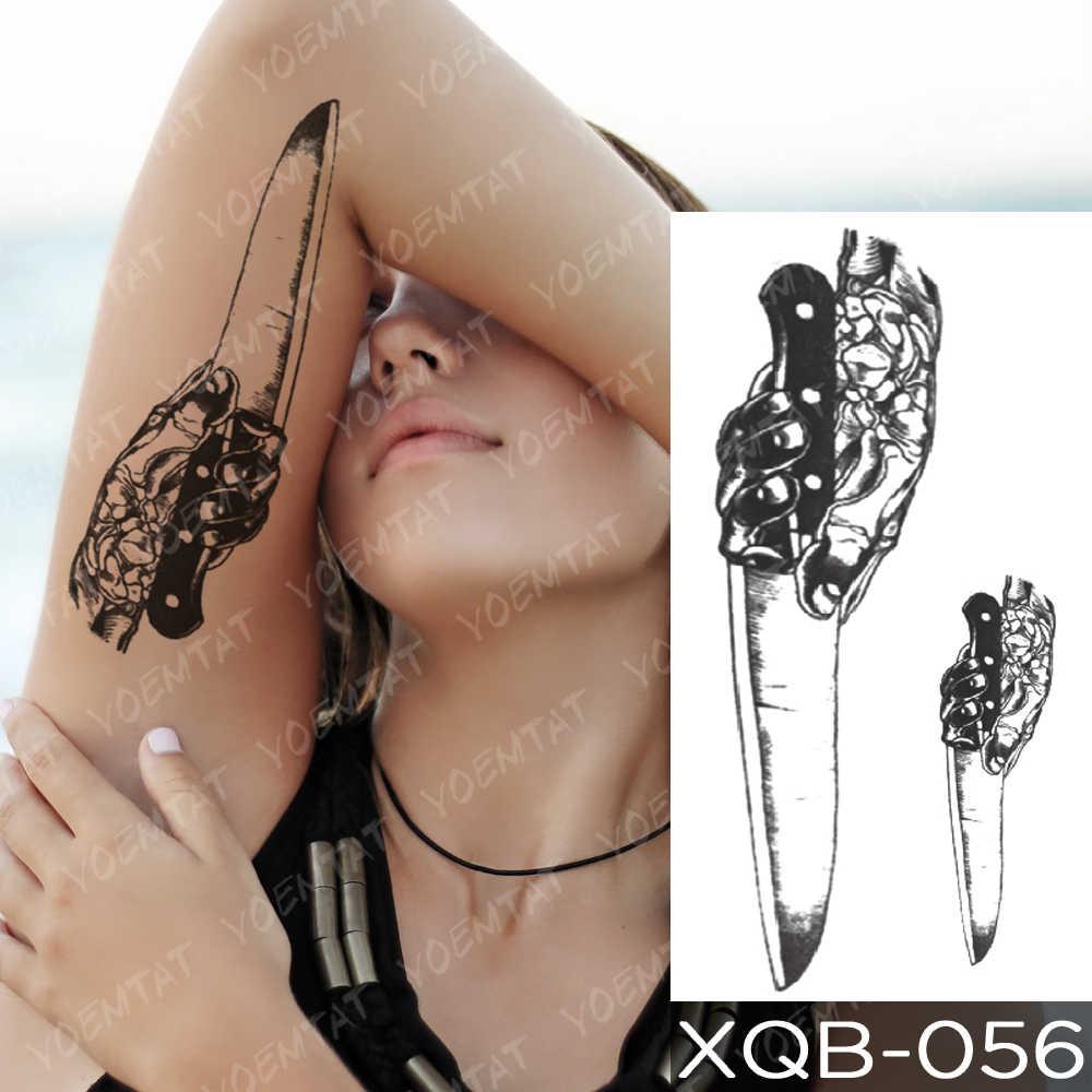 Su geçirmez geçici dövme etiket Kurama Naruto Orochimaru yılan flaş dövmeler eski okul vücut sanatı kol sahte dövme kadın erkek
