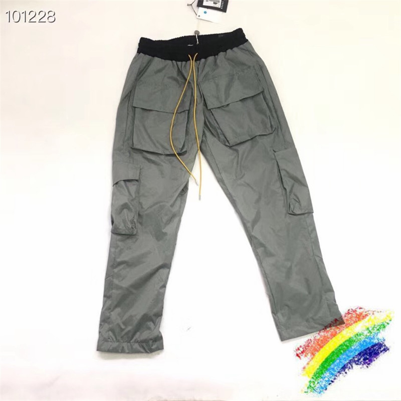 RHUDE 19SS Cargo Pants Women Men Jogger Pants Mens Causal  Rhude Joggers