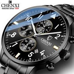 CHENXI Fashion New Men Watches Sport Waterproof Top Brand Luxury Chronograph Quartz Watch Full Steel Men Clock Relogio Masculino